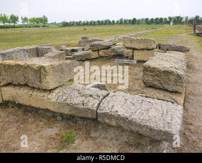 Roman Tomb at Metaponto Archaeological site, Italy - Stock Image