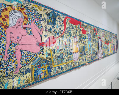 Grayson Perry, The Walthamstow Tapestry 2009 - Stock Image
