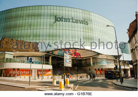 John Lewis Retail shop and Birmingham New Street Station entrance Birmingham, England, UK.Credit:  Christopher Canty - Stock Image