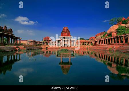 pushkarini, hampi vijaynagar - Stock Image