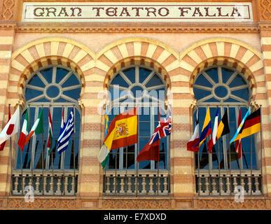 The theater called 'Gran Teatro Falla' in Cadiz - Stock Image