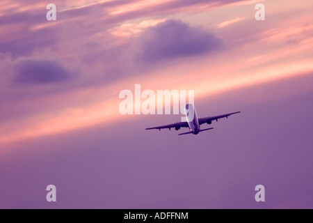 Airliner during flight - Stock Image