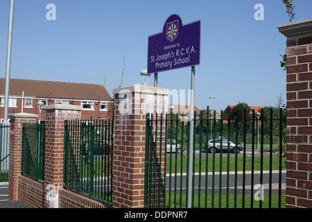 St. Joseph's R.C.V.A Primary School,Millfield Sunderland. - Stock Image