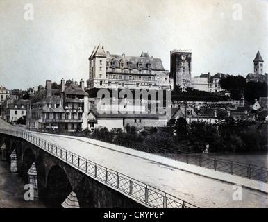 Chateau de Pau, ca 1860, by Farnham Maxwell Lyte - Stock Image