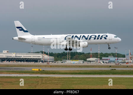 Finnair, Airbus A321-200 At Malpensa (MXP / LIMC), Milan, Italy - Stock Image