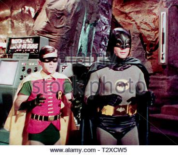 BURT WARD, ADAM WEST, BATMAN, 1966 - Stock Image