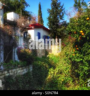 Gardens, orange trees and houses of north cyprus - Stock Image
