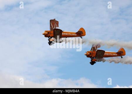 Breitling Wingwalkers at Biggin Hill Airshow - Stock Image