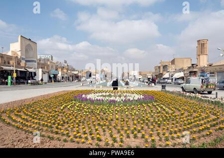 Amir Chakhmaq square in Yazd, Iran - Stock Image