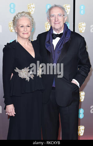 London, UK. 10th Feb, 2019. LONDON, UK. February 10, 2019: Glenn Close arriving for the BAFTA Film Awards 2019 at the Royal Albert Hall, London. Picture: Steve Vas/Featureflash Credit: Paul Smith/Alamy Live News - Stock Image