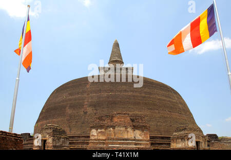 rankot vihara dogoba polonnarawa archaeology site in the cultural triangle of sri lanka - Stock Image