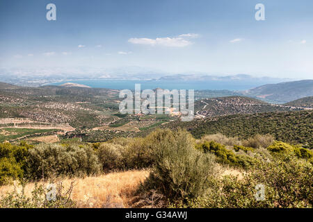 Landscape in Peloponnese, Greece - Stock Image
