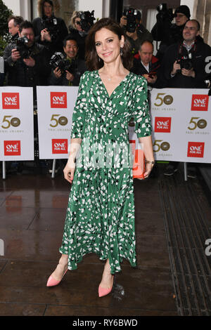 LONDON, UK. March 12, 2019: Emelia Fox arriving for the TRIC Awards 2019 at the Grosvenor House Hotel, London. Picture: Steve Vas/Featureflash Credit: Paul Smith/Alamy Live News - Stock Image