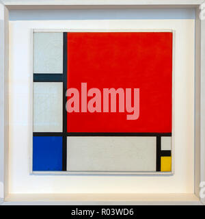 Composition with Red, Blue and Yellow, Piet Mondrian, 1987, Zurich Kunsthaus, Zurich, Switzerland, Europe - Stock Image