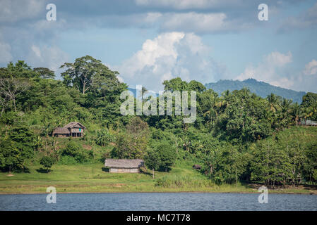 Wagu Lake village, Upper Sepik, Papua New Guinea - Stock Image