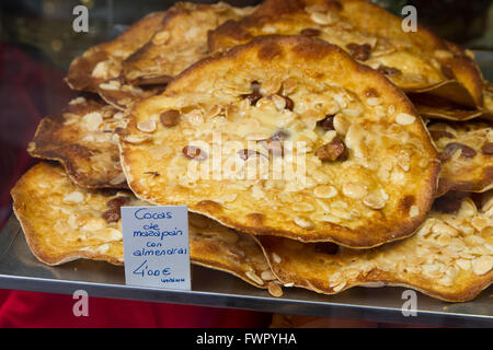 Coca almond cakes from Valencia Spain - Stock Image