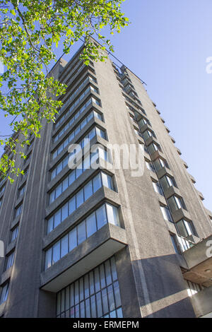 LONDON, UK, 4th July 2015 - Blake Tower, formerly known as Barbican YMCA is due to open in mid 2016 as the 4th - Stock Image