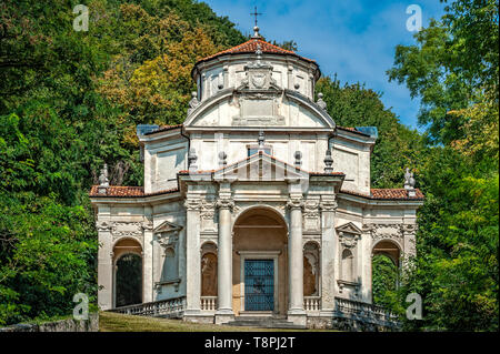 Italy Lombardy Unesco World heritage Site - Sacro Monte di Varese ( Varese sacred Mount ) - V chapel - dispute with the doctors - Stock Image