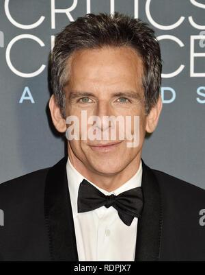 SANTA MONICA, CA - JANUARY 13: Ben Stiller arrives at the The 24th Annual Critics' Choice Awards attends The 24th Annual Critics' Choice Awards at Barker Hangar on January 13, 2019 in Santa Monica, California. - Stock Image