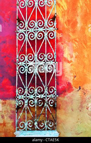 Wall in Santana Row in San Jose, California - Stock Image