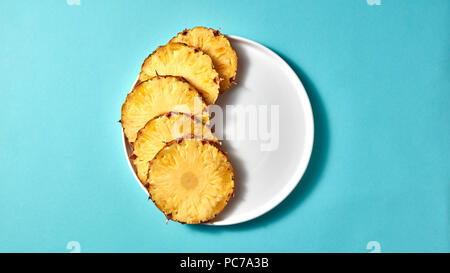 healthy diet,diet,pineapple slice - Stock Image