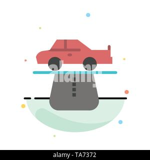 Advantage, Authority, Car, Carpet, Comfort Abstract Flat Color Icon Template - Stock Image