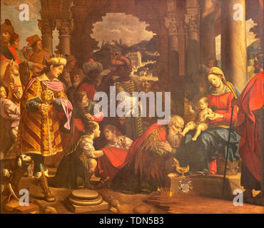 COMO, ITALY - MAY 8, 2015: The painting Adoration of the Magi in Duomo. - Stock Image