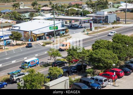 David Low Way at Marcoola, Sunshine Coast, Queensland, Australia - Stock Image
