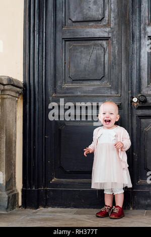 Laughing little girl - Stock Image