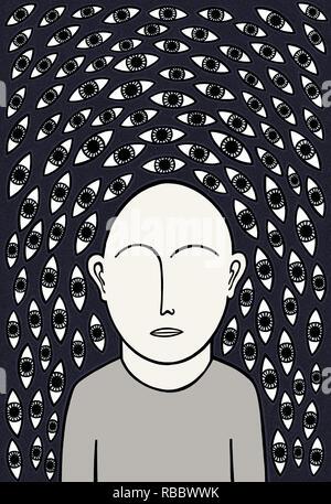 My many minds eyes - Stock Image
