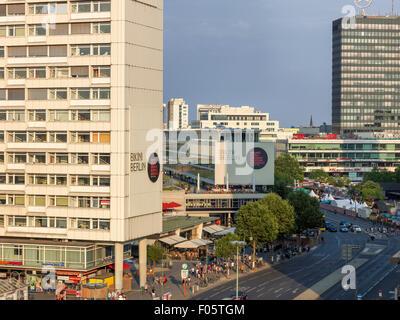 Bikini Shopping mall in Berlin. Europa-Center in the background. - Stock Image