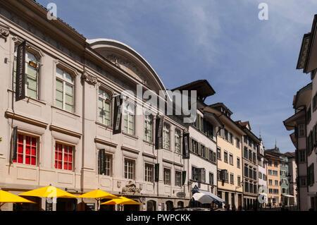 Switzerland, Zurich canton, city of Zurich, old town - Stock Image