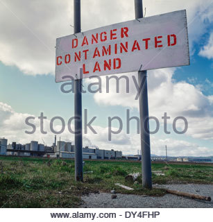Land reclamation site - formally a steel mill - Stock Image