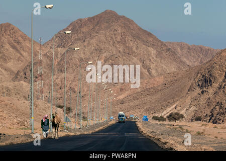Road in Egypt. Dahab. South Sinai - Stock Image