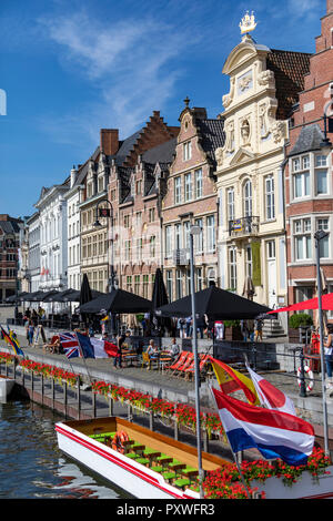 The city of Ghent in Belgium. Founded in the 10th century, it became the capital of the medieval principality of Flanders. It is now the capital and l - Stock Image