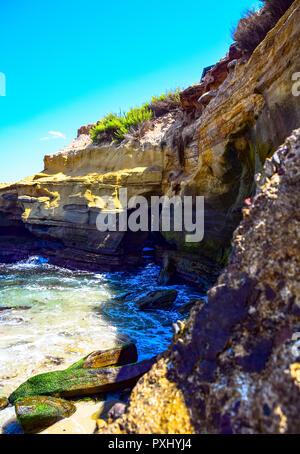 View of La Jolla Cove in La Jolla, California, USA - Stock Image