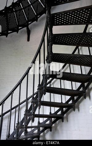 Staircase inside the lighthouse, St. Augustine, Florida, USA - Stock Image