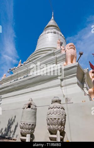 Main stupa, Wat Phnom, Phnom Penh, Cambodia, Asia - Stock Image