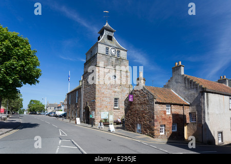Main Street Crail in the East Neuk of Fife - Stock Image
