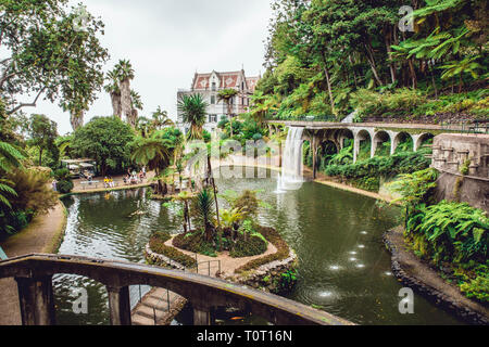 Funchal,Madeira/Portugal-09.05.2018. Monte Palace tropical garden on Madeira island. - Stock Image