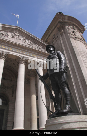 First World War memorial in front of the Royal Exchange Building London - Stock Image