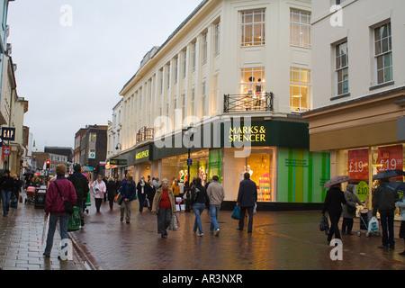 Ipswich Shopping Mark & Spencer Shop - Stock Image
