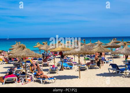 Cala Ratjada beach - Stock Image
