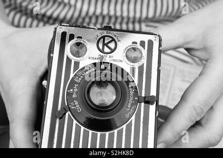 Kodak brownie - Stock Image