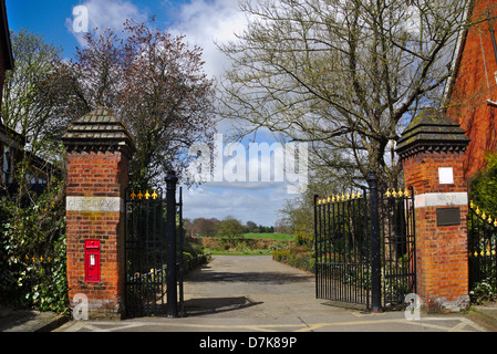 Gippeswyk Park entrance, Ipswich Suffolk England. - Stock Image