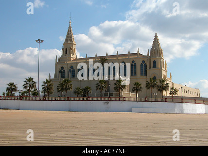 Chipiona church Spain - Stock Image
