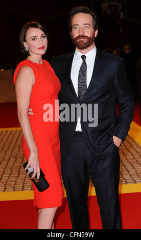 Keeley Hawes and Matthew Macfadyen at the premiere of The Three Musketeers at Westfield, London, England- 04.10.11 - Stock Image