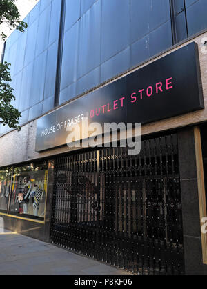 House Of Fraser outlet store, Frenchgate, Doncaster, South Yorkshire, England, UK - Stock Image