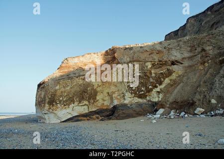 The cliffs between East and West Runton, Norfolk, UK - Stock Image
