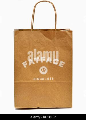 Fatface paper carrier bag - Stock Image